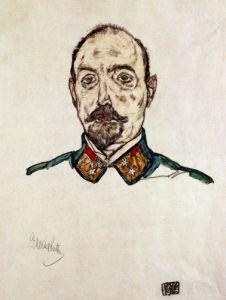 Portrait Of A First Officier by Egon Schiele