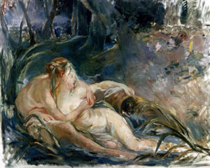 Apollo Appearing To Latone (After Boucher) by Berthe Morisot