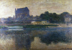 Vernon Church In A Fog by Claude Monet