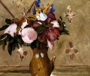 Flowers In A Vase (Copy After Cezanne) by Paul Cezanne