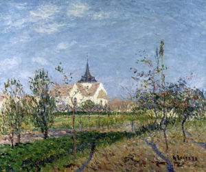 Church, Eglise De Notre Dame Du Vandreuil by Gustave Loiseau