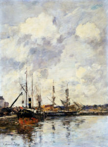Le Bassin by Eugene Louis Boudin