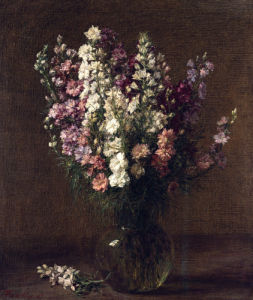 Larkspur by Ignace-Henri-Théodore Fantin-Latour