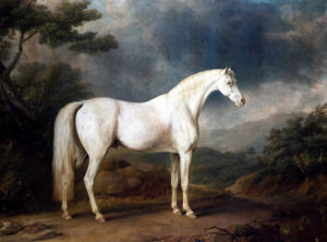 White Horse In A Wooded Landscape by Sawrey Gilpin