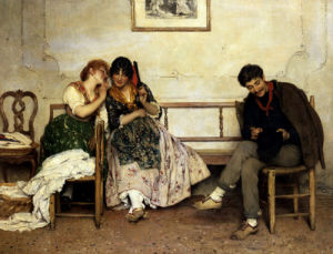 Proposal Of Love by Eugene von Blaas