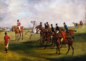 The Grand Leicestershire Steeplechase, March 12, 1829: The Start by Henry Alken