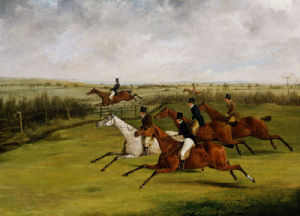 The Grand Leicestershire Steeplechase, March 12th, 1829: The Field Becomes Select by Henry Alken