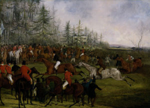 The Grand Leicestershire Steeplechase, March 12th, 1829: The Winning Post And Billesdon Coplow by Henry Alken