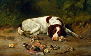 Good Doggy by Arthur Fitzwilliam Tait