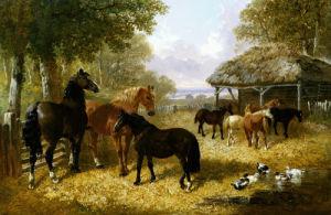 Barnyard Scenes John Frederick Herring, Jr by John Frederick Herring