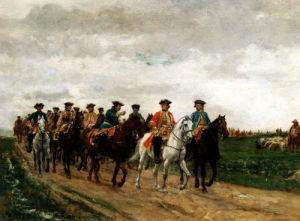 Marshal Saxe And His Troops by Jean-Louis Ernest Meissonier