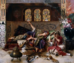 In The Harem by Rudolf Ernst