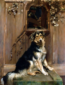 A Dog And A Mirror by John Henry Lorimar