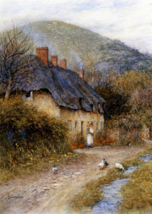 At Symondsbury Near Bridport, Dorset by Helen Allingham