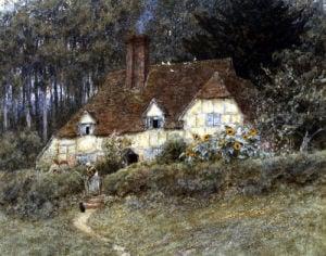 Old Surrey Cottage (I) by Helen Allingham