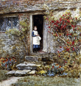 Corcorus Japonica by Helen Allingham