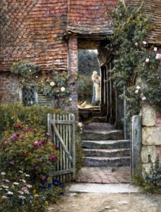 Under The Old Malthouse,  Hambledon, Surrey by Helen Allingham