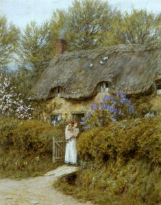 Near Freshwater, Isle Of Wight by Helen Allingham