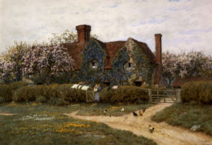 A Buckinghamshire House At Penstreet by Helen Allingham