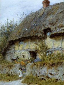 A Berkshire Cottage by Helen Allingham