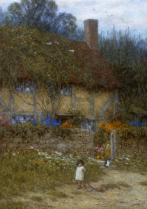 A Cottage Near Godalming,  Surrey by Helen Allingham