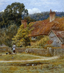 Netley Farm, Shere, Surrey by Helen Allingham