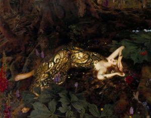Titania Sleeps; A Midsummer Night's Dream by Frank Cadogan Cowper