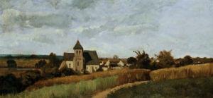 A Village At Harvest Time by Henri Joseph Harpignies