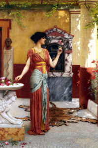 The Bouquet by John William Godward