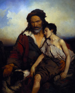 The Minstrel Boy by Louis Gallait