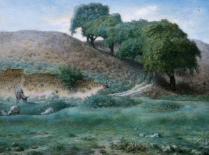 Path With Chestnut Trees Near Cusset by Jean Francois Millet