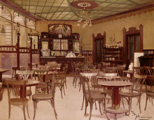 Cafe Beethoven In Vienna by Johann Hamza