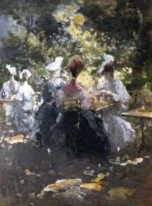 An Elegant Teaparty by Pompeo Mariani