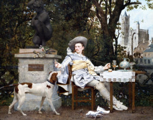 A Repast In The Park by Paul Alphonse Viry