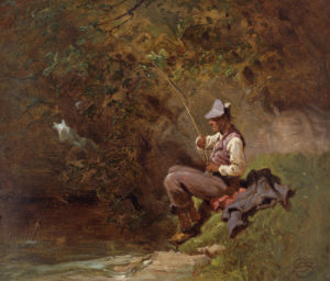 The Angler by Carl Spitzweg