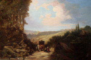 Landscape With Carriage by Carl Spitzweg
