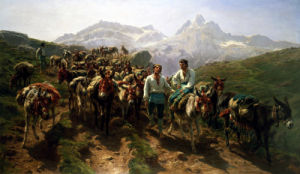 Spanish Muleteers Crossing The Pyrenees by Rosa Bonheur