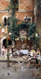 A Festive Occasion by Cesare Tiratelli