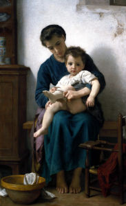 The Elder Sister, La Grande Soeur by Adolphe William Bouguereau