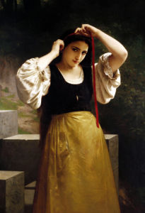 The Red Ribbon by Adolphe William Bouguereau