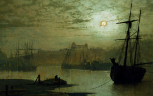On The Esk, Whitby by John Atkinson Grimshaw