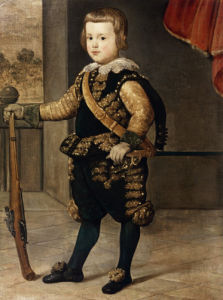 Portrait Of The Infante Don Balthasar Carlos, Son Of Philip IV Of Spain by Juan Bautista Martinez Del Mazo