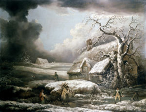 A Winter Landscape by George Morland