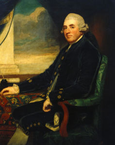 Portrait Of The First Earl Of Farnham, Seated, Three-Quarter Length by George Romney