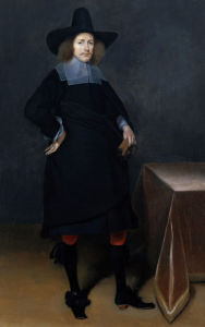 Portrait Of A Gentleman, Standing by Gerard Terborch