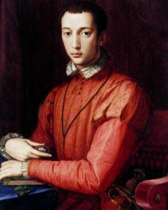 Portrait Of Francesco I De' Medici by Agnolo Bronzino