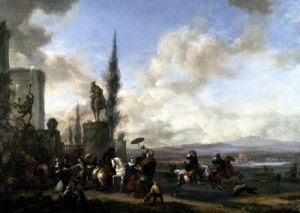 The Departure For The Hunt by Philips Wouwermans