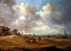 A View Of Scheveningen by Jan Van Goyen