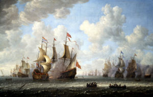A Battle At Sea by Jeronimus van Diest