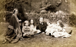Portrait Of The MacDonald Family With Lewis Carroll by Charles Lutwidge Dodgson